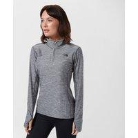 The North Face Womens Mountain Athletics Motivation Quarter Zip Shirt, Grey