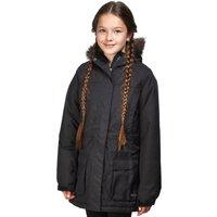 Peter Storm Girls Waterproof Parka, Black