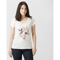Peter Storm Womens Floral Butterfly T-Shirt, Cream