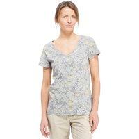 Peter Storm Womens Bold Floral T-Shirt, Grey