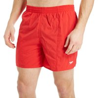 Speedo Mens Solid Swimming Shorts, Red