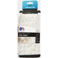 Lifeventure SoftFibre Ordnance Survey Travel Towel, Multi