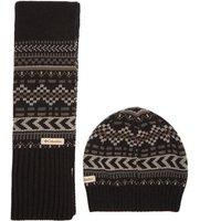 Columbia Mens Winter Worn Hat & Scarf Set, Black