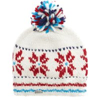 Kusan Mens Snowflake Hat, White