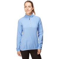 Peter Storm Womens Grid Half Zip Fleece, Blue