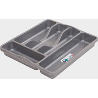Quest Plastic Cutlery Organiser - Grey, Grey