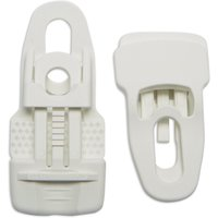 Quest Large Clingon Clips, White