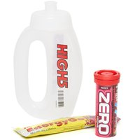 High 5 Run Bottle, Zero 10 Berry Hydration Tube and Citrus Energy Gel, White
