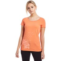 The North Face Womens Birds & Clouds T-Shirt, Orange