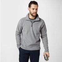 Brasher Men's Bleaberry Half Zip Fleece, Grey