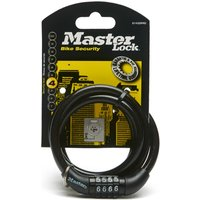 Masterlock Street Quantum Self Coiling Combination Lock - Black, Black