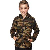 Peter Storm Boys Half Zip Camo Hoody, Camouflage
