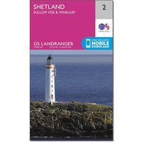 Ordnance Survey Landranger 2 Shetland Sullom Voe & Whalsay Map With Digital Version, D/D
