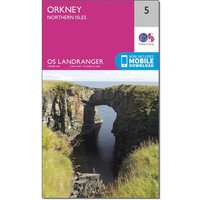 Ordnance Survey Landranger 5 Orkney Northern Isles Map With Digital Version, Orange