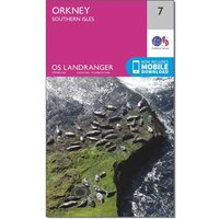 Ordnance Survey Landranger 7 Orkney Southern Isles Map With Digital Version, Orange