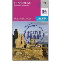 Ordnance Survey Landranger Active 59 St Andrews, Kirkcaldy & Glenrothes Map With Digital Version, D/D
