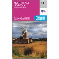Ordnance Survey OS Landranger 133 North East Norfolk, Cromer & Wroxham Map, D/D