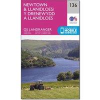 Ordnance Survey Landranger 136 Newtown & Llanidloes Map With Digital Version, Orange