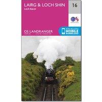 Ordnance Survey Landranger 16 Lairg & Loch Shin, Loch Naver Map With Digital Version, N/A