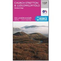 Ordnance Survey Landranger 137 Ludlow & Church Stretton, Wenlock Edge Map With Digital Version, Orange