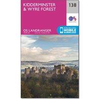 Ordnance Survey Landranger 138 Kidderminster & Wyre Forest Map With Digital Version, Orange