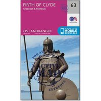 Ordnance Survey Landranger Active 63 Firth of Clyde, Greenock & Rothesay Map With Digital Version, Pink/D