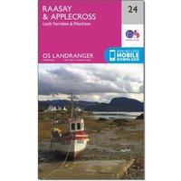 Ordnance Survey Landranger 24 Raasay & Applecross, Loch Torridon & Plockton Map With Digital Version, Orange
