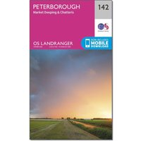 Ordnance Survey Landranger 142 Peterborough, Market Deeping & Chatteris Map With Digital Version, Orange