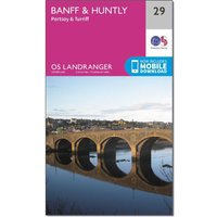 Ordnance Survey Landranger 29 Banff & Huntly, Portsoy & Turriff Map With Digital Version, Pink/D