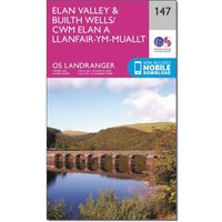 Ordnance Survey Landranger 147 Elan Valley & Builth Wells Map With Digital Version, Orange