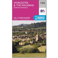 Ordnance Survey Landranger 150 Worcester & The Malverns, Evesham & Tewkesbury Map With Digital Version, Orange