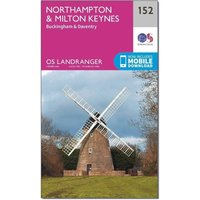 Ordnance Survey Landranger 152 Northampton & Milton Keynes, Buckingham & Daventry Map With Digital Version, Orange