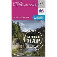 Ordnance Survey Landranger Active 71 Lanark & Upper Nithsdale Map With Digital Version, Orange