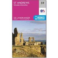 Ordnance Survey Landranger 59 St Andrews, Kirkcaldy & Glenrothes Map With Digital Version, Orange