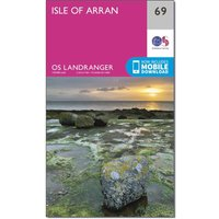 Ordnance Survey Landranger 69 Isle of Arran Map With Digital Version, Orange