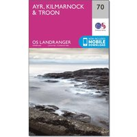 Ordnance Survey Landranger 70 Ayr, Kilmarnock & Troon Map With Digital Version, N/A