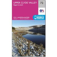 Ordnance Survey Landranger 72 Upper Clyde Valley, Biggar & Lanark Map With Digital Version, N/A
