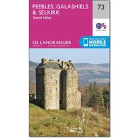 Ordnance Survey Landranger 73 Peebles, Galashiels & Selkirk, Tweed Valley Map With Digital Version, N/A