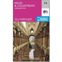 Ordnance Survey Landranger 74 Kelso & Coldstream, Jedburgh & Duns Map With Digital Version, N/A