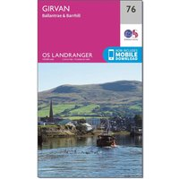 Ordnance Survey Landranger 76 Girvan, Ballantrae & Barrhill Map With Digital Version, N/A