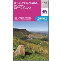 Ordnance Survey Landranger 160 Brecon Beacons Map With Digital Version, Orange