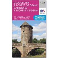 Ordnance Survey Landranger 162 Gloucester & Forest of Dean Map With Digital Version, Orange