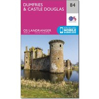 Ordnance Survey Landranger 84 Dumfries & Castle Douglas Map With Digital Version - Orange, Orange