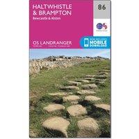Ordnance Survey Landranger 86 Haltwhistle & Brampton, Bewcastle & Alston Map With Digital Version, Orange