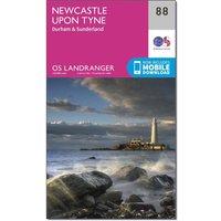 Ordnance Survey Landranger 88 Newcastle upon Tyne, Durham & Sunderland Map With Digital Version, Orange