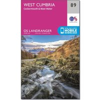 Ordnance Survey Landranger 89 West Cumbria, Cockermouth & Wast Water Map With Digital Version, N/A