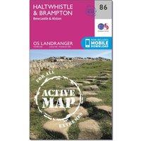 Ordnance Survey Landranger Active 86 Haltwhistle & Brampton, Bewcastle & Alston Map With Digital Version, Orange