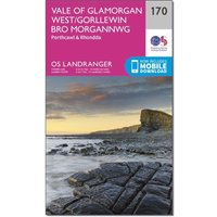 Ordnance Survey Landranger 170 Vale of Glamorgan, Rhondda & Porthcawl Map With Digital Version, N/A