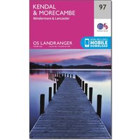 Ordnance Survey Landranger 97 Kendal, Morecambe, Windermere & Lancaster Map With Digital Version, Orange