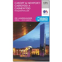 Ordnance Survey Landranger 171 Cardiff & Newport, Pontypool Map With Digital Version, N/A